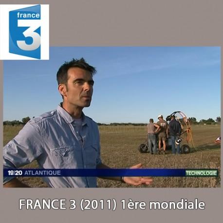 REPORTAGE France 3 (paramoteur électrique 2011)