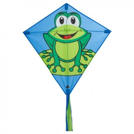 Cerf Volant Eddy funny frog