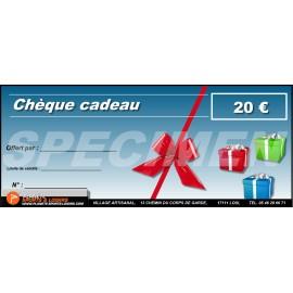 Chèques cadeaux 20 euros