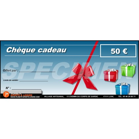Chèques cadeaux 50 euros