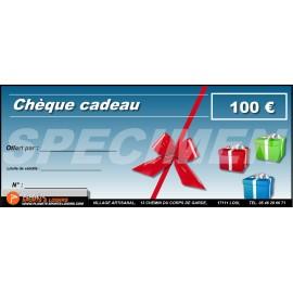 Chèques cadeaux 100 euros